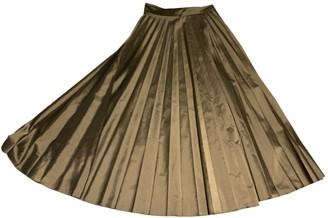 Margaret Howell Gold Silk Skirt for Women