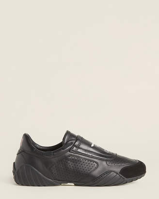 Christian Dior Black D-Fence Leather Low-Top Sneakers