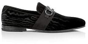Salvatore Ferragamo Men's Schwartz Formal Slip-On Velvet Loafers