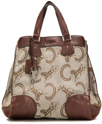 Celine Pre-Owned horse carriage pattern tote