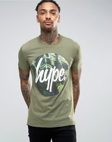 Hype T-shirt With Leaf Circle Logo
