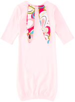 Light Pink Floral-Accent Bunny Ears Gown - Infant