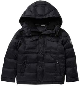 Diesel Puffer Hooded Jacket (Big Boys)
