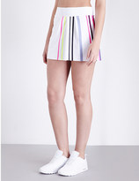 Monreal London Pleated striped stretch-jersey tennis skirt