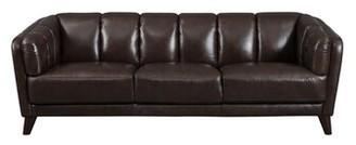 Corrigan Studio Zainab Craft Leather Sofa Upholstery Color: Dark Brown