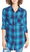 BP Women's Plaid Tunic Shirt