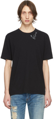 Saint Laurent Black Guitar Print T-Shirt