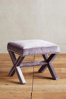 Anthropologie Slub Velvet Wilmette Bench