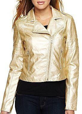 JCPenney Collection B Faux Leather Jacket