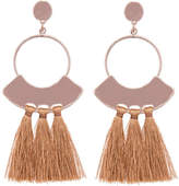 ELOQUII Hammered Detail Tassel Earring