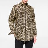 Paul Smith Women's Oversized Black 'Cheetah' Print Cotton Shirt