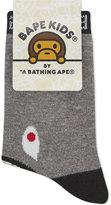 A Bathing Ape Shark Cotton-blend Socks