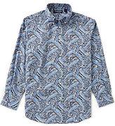 Roundtree & Yorke Long-Sleeve Large Paisley Sportshirt