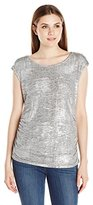 Calvin Klein Women's S/L Top W/ Shoulder Buttons