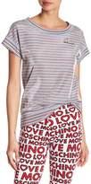 Love Moschino Placca Metallic Stripe Tee