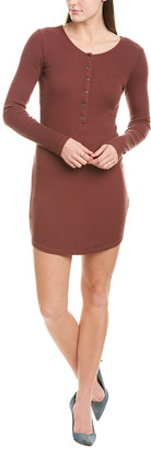 Monrow Rib Henley Mini Dress