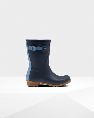 Hunter Women's Original Short Exploded Logo Texture Rain Boots