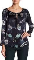Luma Silk Blend Floral Print Blouse