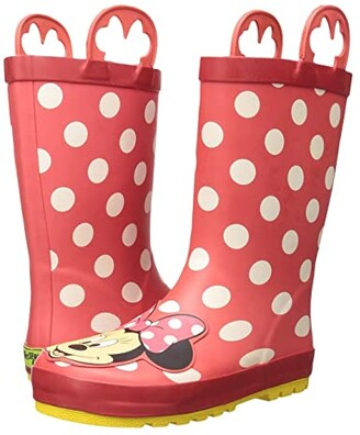Western Chief Minnie Mouse Rain Boots (Toddler/Little Kid/Big Kid) (Red) Girls Shoes