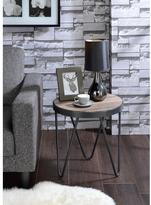 Acme Bage End Table, Weathered Gray Oak