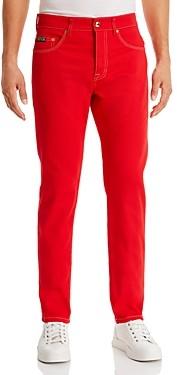 Versace Slim Fit Jeans in Racing Red