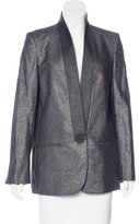 Stella McCartney Wool Metallic-Accented Blazer
