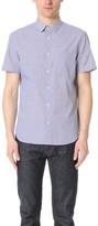 Calvin Klein Collection Relic Striped Short Sleeve Shirt