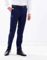 Alberto Navy Suit Trousers