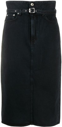 Rag & Bone Paperbag Waist Denim Skirt