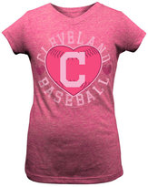 5th & Ocean Girls' Cleveland Indians Baseball Heart T-Shirt