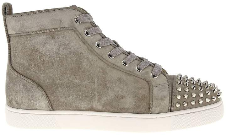 pretty nice e161d 23df1 Sneakers Lou Spikes Sneakers In Suede With Studded Toe