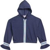 Design History Girls Girl's Rainbow Zip-Up Hooded Jacket, Size S-XL