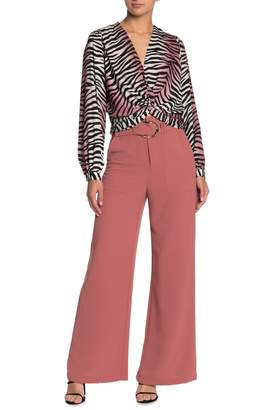 Do & Be Do + Be Buckled High Waisted Wide Leg Pants