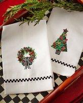 Mackenzie Childs MacKenzie-Childs Christmas Greens Guest Towels, Set of 2