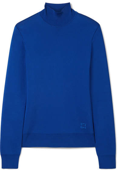 Givenchy Knitted Turtleneck Sweater - Blue