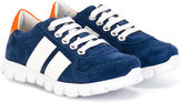 Bumper lace-up sneakers - kids - Leather/Pig Leather/Calf Suede/rubber - 27