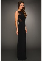 Badgley Mischka Illusion Cutout Gown