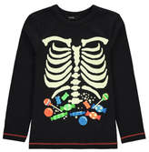 George Halloween Glow in the Dark Skeleton Top