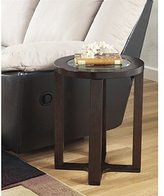 Ashley Furniture T477-6 Marion Round Glass End Table