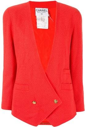 Chanel Pre Owned CC button blazer