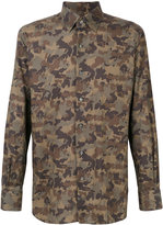 Tom Ford camouflage print shirt