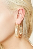 Forever 21 Flat Hoop Earrings