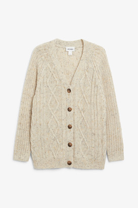 Monki Oversized cable knit cardigan