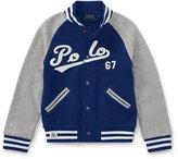 Ralph Lauren Lightweight Terry Baseball Jacket, Size 2-4