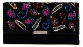 Loeffler Randall Sequin Velvet Clutch - Black