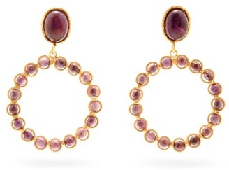 Sylvia Toledano Happy Amethyst Clip Earrings - Purple