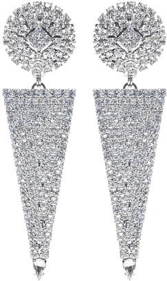 Alessandra Rich Embellished Drop Earrings
