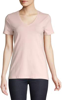 Lord & Taylor Essential V-Neck Tee
