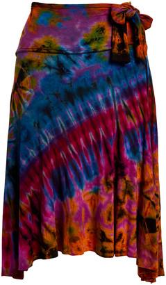 Greatergood GreaterGood Women's Casual Skirts Maroon - Maroon Tie-Dye Sidetail Skirt - Women & Juniors
