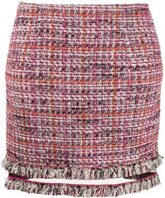 Patrizia Pepe checked tweed mini skirt